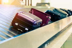 Baggage Conveyor in an airport