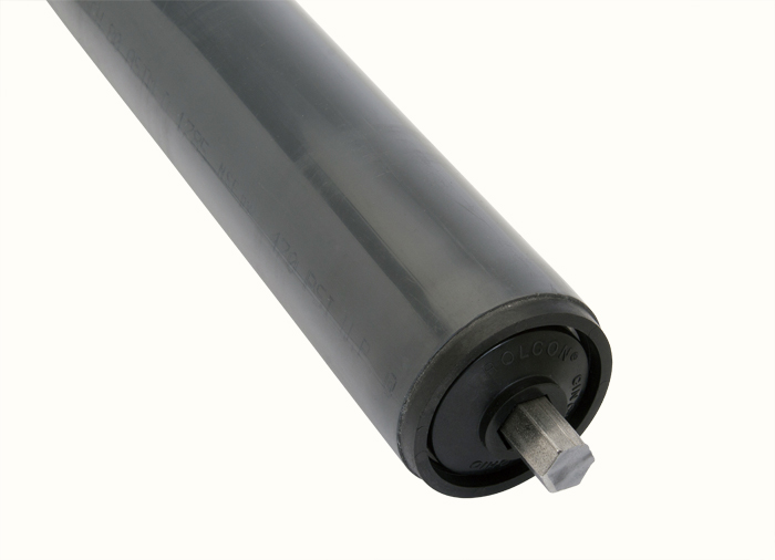 a 1.9 plastic Rolcon replacement conveyor roller
